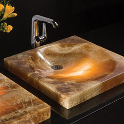 SYNC Drop-In Vessel Sink, Amber Onyx | Lavabos | Stone Forest
