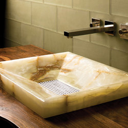 SYNC Drop-In Vessel Sink, Multi-Colored Onyx | Wash basins | Stone Forest