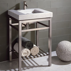 Slab Vanity on Stainless Stand | Vanity units | Stone Forest