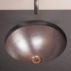 Self-Rimming Vessel Sink, Flat Rim, Copper | Küchenspülbecken | Stone Forest