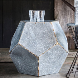 Geometric Metal Side Table | Plant pots | Pfeifer Studio