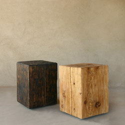 Santa Fe Solid Pine Cube | Side tables | Pfeifer Studio