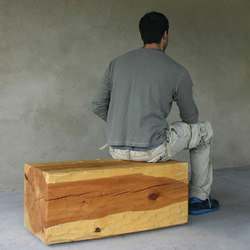 Santa Fe Solid Pine Bench | Bancos de espera | Pfeifer Studio