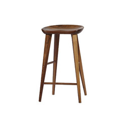 High Ball Walnut Bar Stool | Taburetes de bar | Pfeifer Studio
