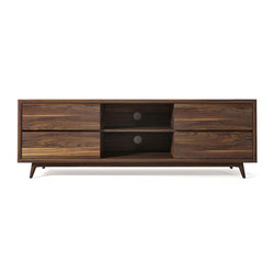 Hi-Fi Walnut Media Console | Multimedia sideboards | Pfeifer Studio