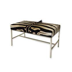 Genuine Zebra Hide Bench | Bancs d'attente | Pfeifer Studio