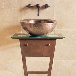 I-Beam Pedestal with Glass Counter | Wash basins | Stone Forest