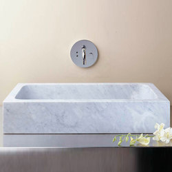 Milano Vessel Sink, Carrara Marble | Wash basins | Stone Forest