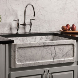 New Haven Farmhouse Sink, Carrara Marble | Kitchen sinks | Stone Forest