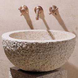 Oval Vessel Sink, Beige Granite | Wash basins | Stone Forest
