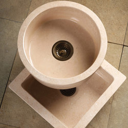 Round and Square Entertainment Sinks | Fregaderos de cocina | Stone Forest