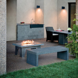 Vesta Fire Table | Camini senza canna fumaria | Stone Forest
