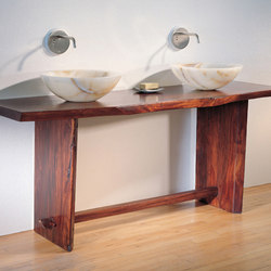 Wood Bath Console | Wash basins | Stone Forest