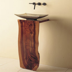 Wood L-Slab Pedestal | Wash basins | Stone Forest