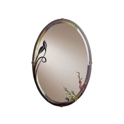 Beveled Oval Mirror with Leaf | Spiegel | Hubbardton Forge