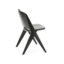 Lavitta chair black, upholstered | Besucherstühle | Poiat
