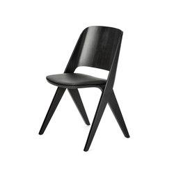 Lavitta chair black, upholstered | Sedie visitatori | Poiat