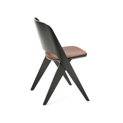 Lavitta chair black, upholstered | Visitors chairs / Side chairs | Poiat