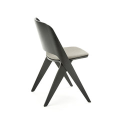 Lavitta chair black, upholstered | Sedie visitatori | Poiat