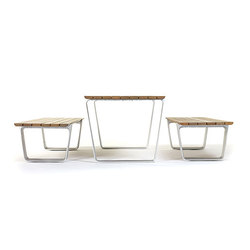 MultipliCITY Table and Bench | Bancs avec tables | Landscape Forms
