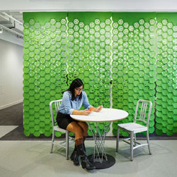 Link | Sound absorbing suspended panels | FilzFelt