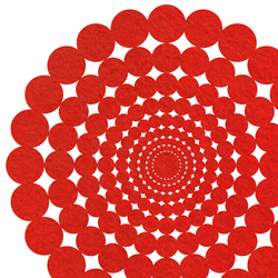 Polka | 360 Round Floor Mat Large | Rugs / Designer rugs | FilzFelt