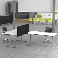 Flow Sit/Stand Desk | Table dividers | Cube Design