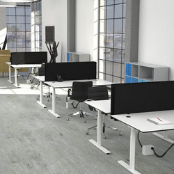 Flow Sit/Stand Desk | Écrans privatifs | Cube Design