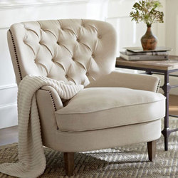 Cardiff Tufted Armchair | Poltrone lounge | Distributed by Williams-Sonoma, Inc. TO THE TRADE