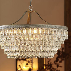 Clarissa Glass Drop Large Round Chandelier | General lighting | Distributed by Williams-Sonoma, Inc. TO THE TRADE