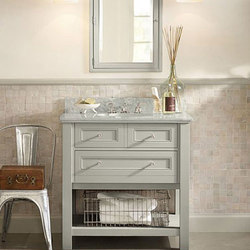 Classic Single Sink Console in Gray | Konsoltische | Distributed by Williams-Sonoma, Inc. TO THE TRADE