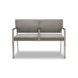 Steel Two Seater | Bancos para ancianos | Trinity Furniture