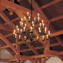 Ball Basket 36 Arm Chandelier | Lampadari da soffitto | Hubbardton Forge