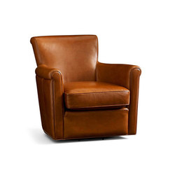 Irving Leather Swivel Armchair | Loungesessel | Distributed by Williams-Sonoma, Inc. TO THE TRADE