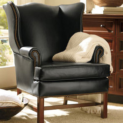 Thatcher Leather Wingback Chair | Lounge chairs | Distributed by Williams-Sonoma, Inc. TO THE TRADE