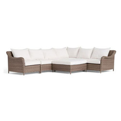 Torrey All-Weather Wicker Sectional - Natural | Garden sofas | Distributed by Williams-Sonoma, Inc. TO THE TRADE