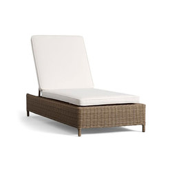 Torrey All-Weather Wicker Single Chaise - Natural | Sun loungers | Distributed by Williams-Sonoma, Inc. TO THE TRADE
