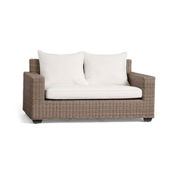 Torrey All-Weather Wicker Square Arm Sofa - Natural | Gartensofas | Distributed by Williams-Sonoma, Inc. TO THE TRADE