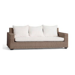 Torrey All-Weather Wicker Square Arm Sofa - Natural | Divani da giardino | Distributed by Williams-Sonoma, Inc. TO THE TRADE