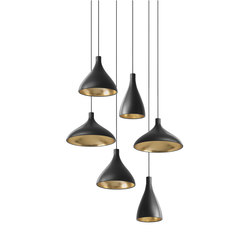 Swell Chandelier 6 | Suspended lights | Pablo