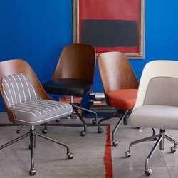 Bentwood Office Chair and Cushion | Sillas de oficina | Williams-Sonoma, Inc. TO THE TRADE