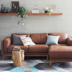 Dekalb Premium Leather Two-Piece Chaise Sectional | Canapés d'attente | Distributed by Williams-Sonoma, Inc. TO THE TRADE