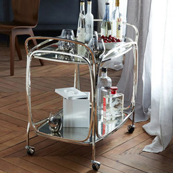 Foxed Mirror Bar Cart | Tea-trolleys / Bar-trolleys | Williams-Sonoma, Inc. TO THE TRADE