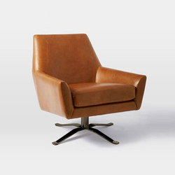 Lucas Leather Swivel Base Chair | Lounge chairs | Distributed by Williams-Sonoma, Inc. TO THE TRADE