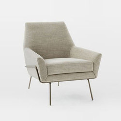 Lucas Wire Base Chair | Poltrone lounge | Distributed by Williams-Sonoma, Inc. TO THE TRADE