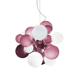 Digit Chandelier | Ceiling | hazy purple | Pendelleuchten | Emmanuel Babled