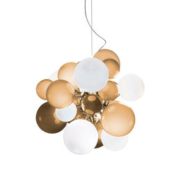 Digit Chandelier |Ceiling | soft light amber | Pendelleuchten | Emmanuel Babled