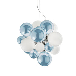 Digit Chandelier | Ceiling | mirrored skyblue | Pendelleuchten | Emmanuel Babled