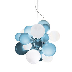 Digit Chandelier | Ceiling | soft skyblue | General lighting | Emmanuel Babled
