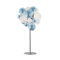 Digit Chandelier | Standing |mirrored skyblue | General lighting | Emmanuel Babled